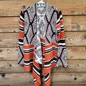 Knox Rose Aztec pattern Cardigan sweater Small